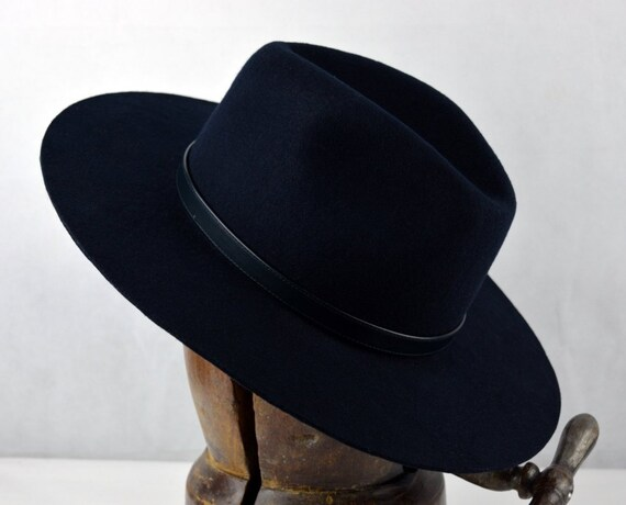 7db2467728bf3 The Veteran Wool Felt Handmade Outdoor Fedora Hat Wide