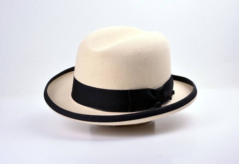 Men's Vintage Style Hats, Retro Hats Homburg Hat | The SIGNATURE | Bone Fedora Hat For Men | Mens Fedora Hats | Mens Fur Felt Hat $209.96 AT vintagedancer.com