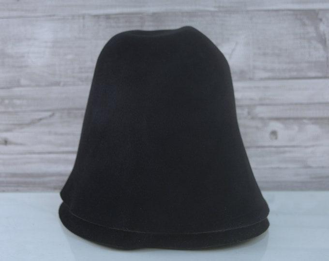 Black | Velour | Rabbit Fur Felt Hat Bodies | Cones