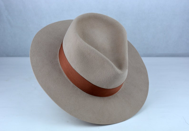 0aee1da397e Wide Brim Fedora The RUSTY 11 Beige Wide Brim Hat Men