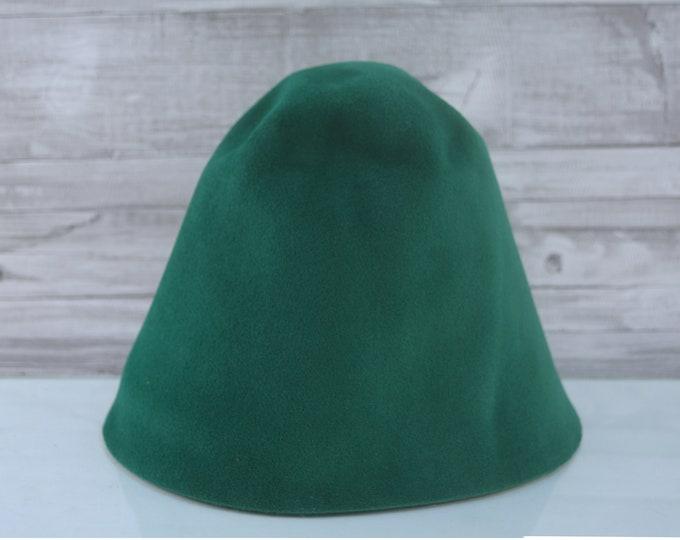 Sacramento Green | Velour | Rabbit Fur Felt Hat Bodies | Cones