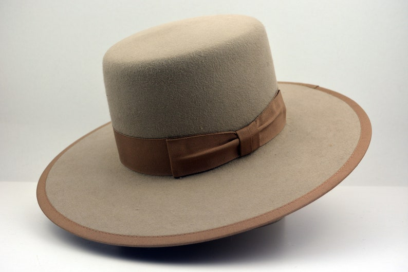 fdeeeb0c812 Bolero Hat The NOMAD Tan Fur Felt Amish Crown Wide Brim