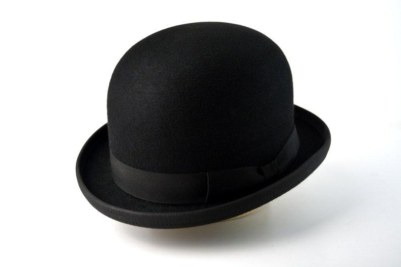 1930s Style Mens Hats and Caps Bowler Hat | The COKE | Black Fur Felt Bowler Hat For Men | Mens Formal Hats $200.54 AT vintagedancer.com