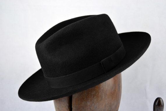 The Hornette - Wool Felt Handmade Western Style Fedora Hat - Wide Brim -  Men Women 6dc31b79e8b1