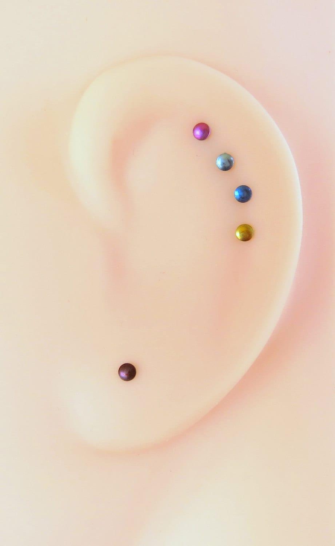 094ca3163 Tiny Niobium Stud Earrings Perfect for Super Sensitive Ears | Etsy
