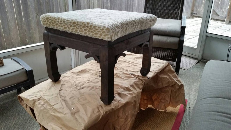 Sensational Reinvented Up Cycled Giraffe Print Upholstered Ottoman Footstool Or Seat Giraffe Padded Footstool Square Footstool Foot Rest Table Alphanode Cool Chair Designs And Ideas Alphanodeonline