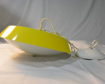 Super Wonderful Bright Sunshine Yellow Swag Light! Completely Refurbished * Bright White and Yellow * Hanging Lighting * Hippie Swag * MCM