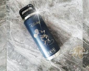 5f2b7a61cdfb9c YETI Rambler® Disney Laser Engraved Bottle Personalized Custom 18oz 26oz  Bottle Powder Coated DuraCoat