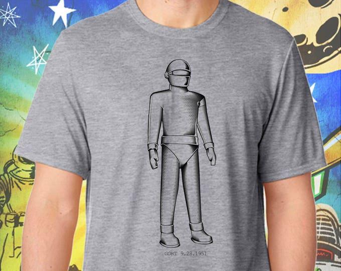 The Day the Earth Stood Still / Gort Robot / Men's Gray Performance T-Shirt
