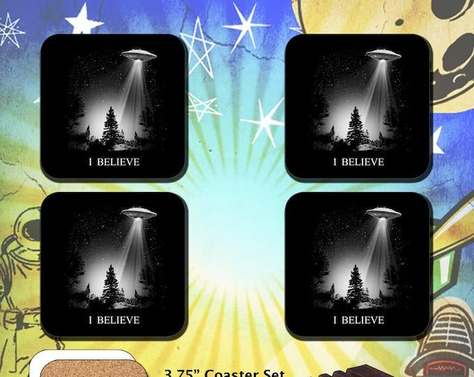 The X-Files / I Believe UFO Abduction / Coaster Set
