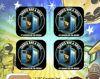 Doctor Who / Tardis Bar & Grill / Coaster Set