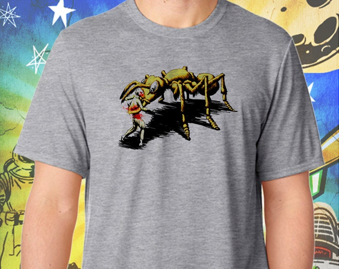 Them! Ants Hate The Walking Dead / Men's Zombie Gray Performance T-Shirt