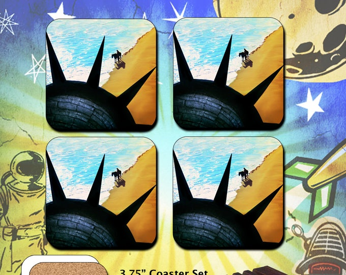 Planet of The Apes / Liberty Scene / Coaster Set