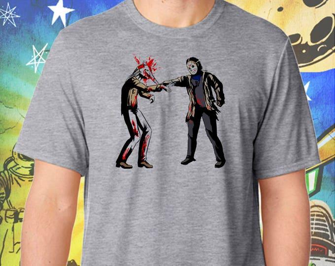 Jason Vorhees Hates The Walking Dead / Men's Zombie Gray Performance T-Shirt
