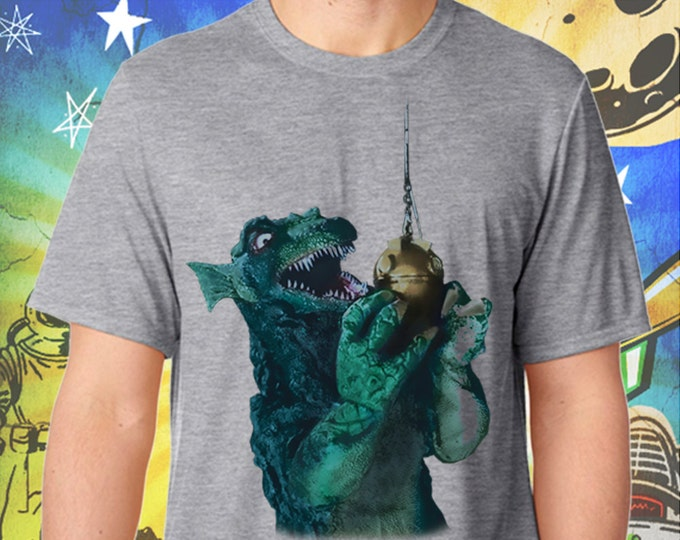 GORGO / Britain's Godzilla Fishing / Men's Gray Performance T-Shirt
