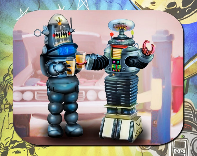 Lost in Space/ Forbidden Planet / B9 Robot / Robby the Robot / Mouse Pad