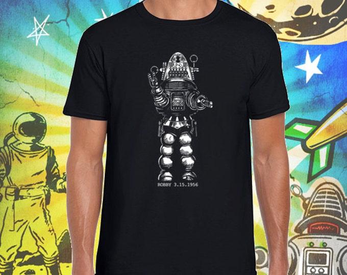 Forbidden Planet / Robby the Robot / Men's Black T-Shirt