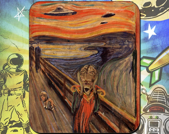 Mars Attacks / The Scream / Edvard Munch / Mouse Pad