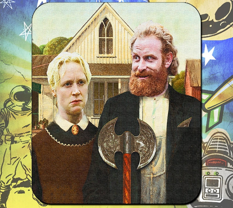 Game of Thrones Mouse Pad / Tormund and Brienne Westeros image 0
