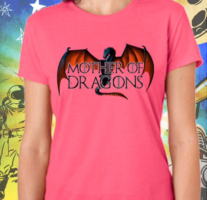 54262a1f Game of Thrones Shirt / Mother of Dragons Women's Pink | Etsy