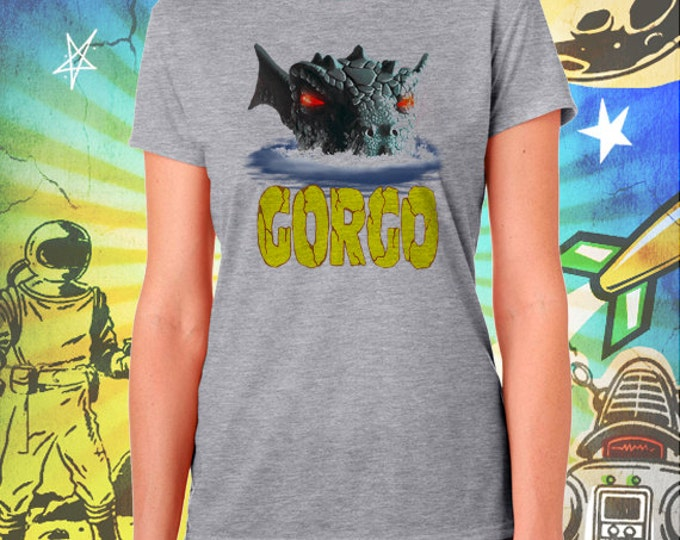 GORGO / Britain's Godzilla / Women's Gray Performance T-Shirt