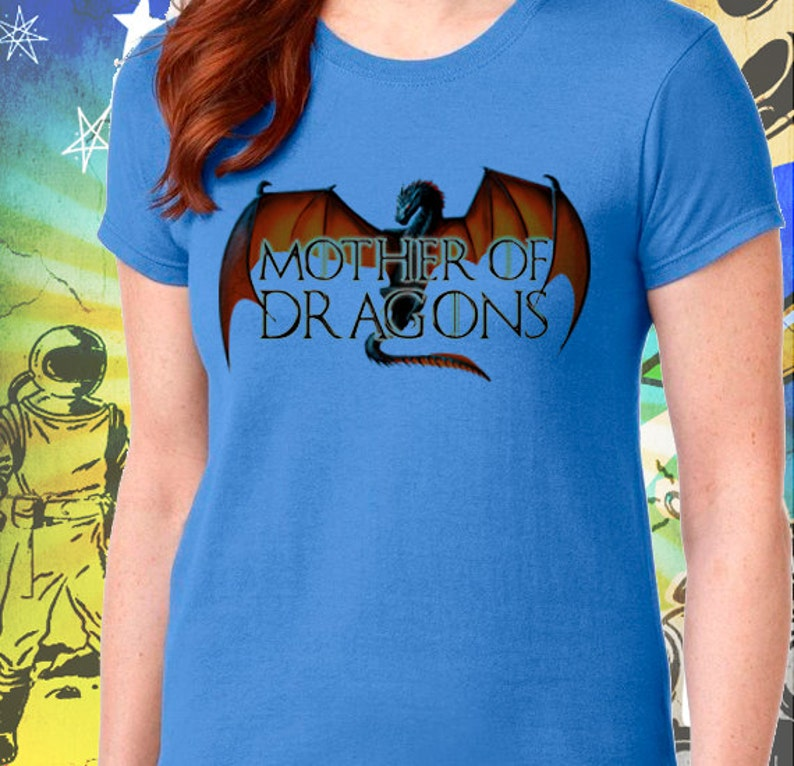 3e2a8f91 Game of Thrones Shirt / Mother of Dragons Women's Blue | Etsy