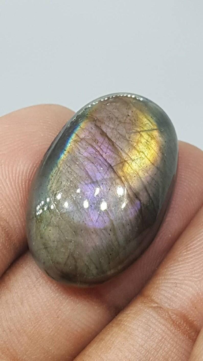 Oval Purple flash Labradorite Cabochonrock and Mineralloose crystalgemstonePink Spectroliteviolet LabradoriteMadagascarReikigold