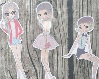 Fashion Girl Die Cuts | Lady Die Cuts | Squad Goals Die Cut | Die Cuts | Cute Die Cuts | Planner Die Cut |TN | Travelers Notebook