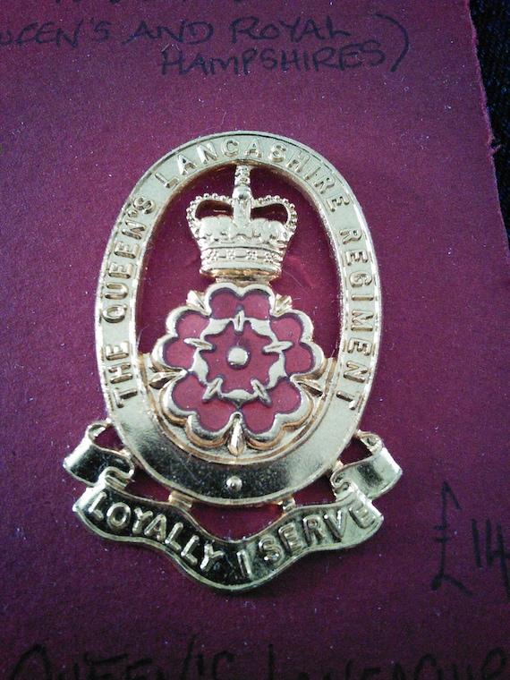 Queens Lancashire Regiment Military Tie Clip Slide QLR