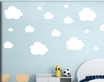 Cloud Wall Decals   Wall Decals   Small Clouds Vinyl Wall Decals   Set Of  42 Fluffy Clouds   Clouds Pattern   Kids Nursery Playroom