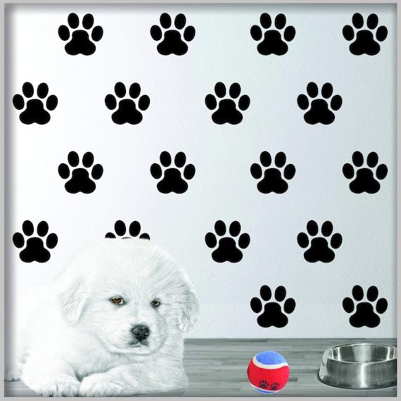 DOG CAR DECAL PET ACCESSORIES DOG DECOR PAW PRINT DOG TOYS RUFF LIFE STICKERS