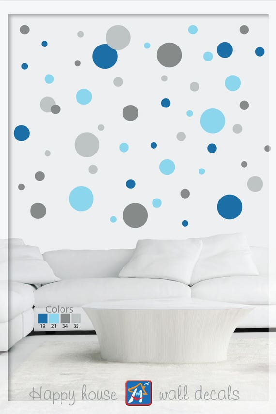 Polka Dot Wall Decals Mixed Sizes Polka Dot Stickers Mixed Etsy