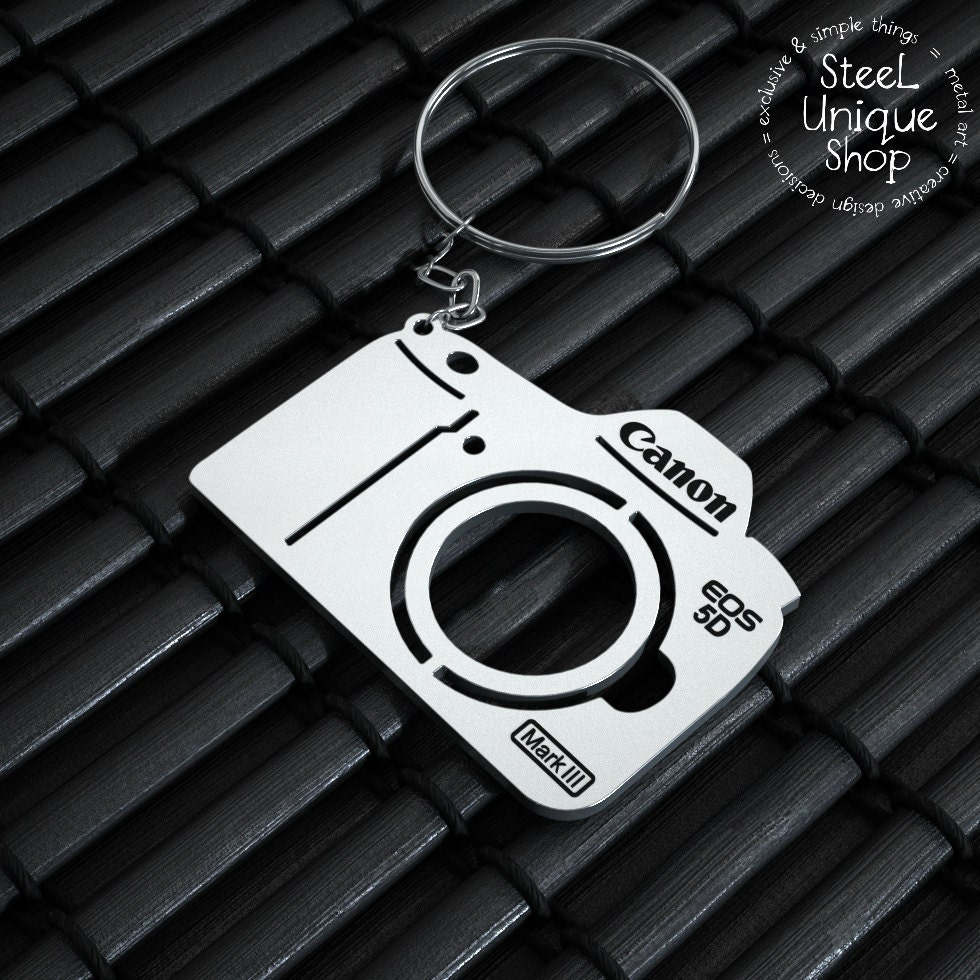 Canon EOS 5D Mark III Edelstahl Kamera Schlüsselanhänger