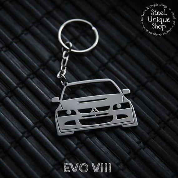 MITSUBISHI EVO Keyring Lancer 1 2 3 4 5 6 7 8 RACING SPORT key chain