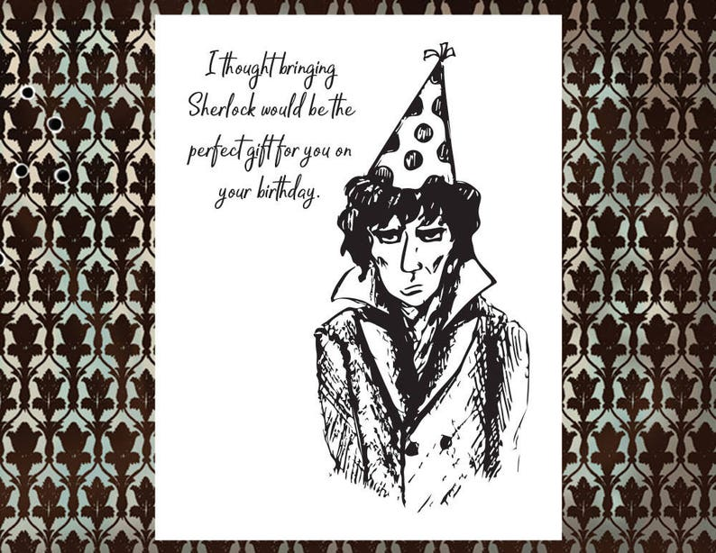 Sherlock BBC Happy Birthday Card With Gift Message