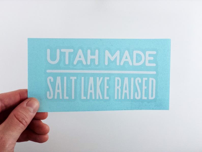 Salt Lake Raised Transfer Sticker Decal Decal  Utah Made