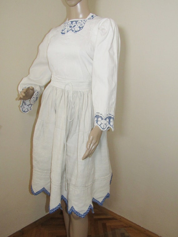 Antique Romanian peasant blouse and skirt from Tr… - image 3