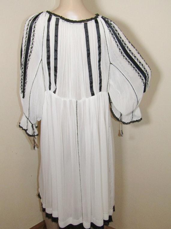 Antique RARE Romanian dress from Transylvania , S… - image 5