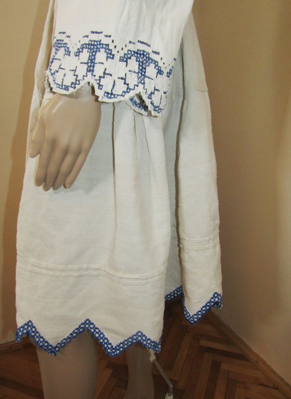 Antique Romanian peasant blouse and skirt from Tr… - image 10