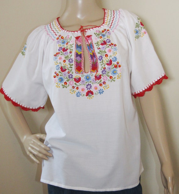 Hungarian blouse Matyo Kalocsa , Hungarian ethnic