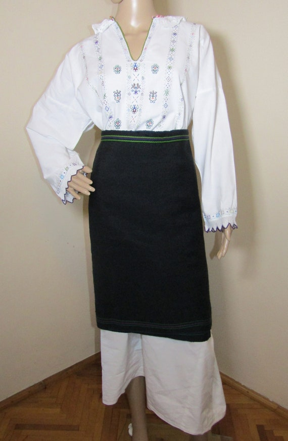 Croatian costume antique , hand embroidered ethnic
