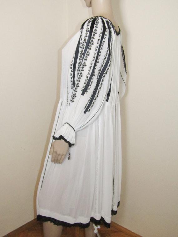 Antique RARE Romanian dress from Transylvania , S… - image 6