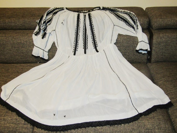 Antique RARE Romanian dress from Transylvania , S… - image 9