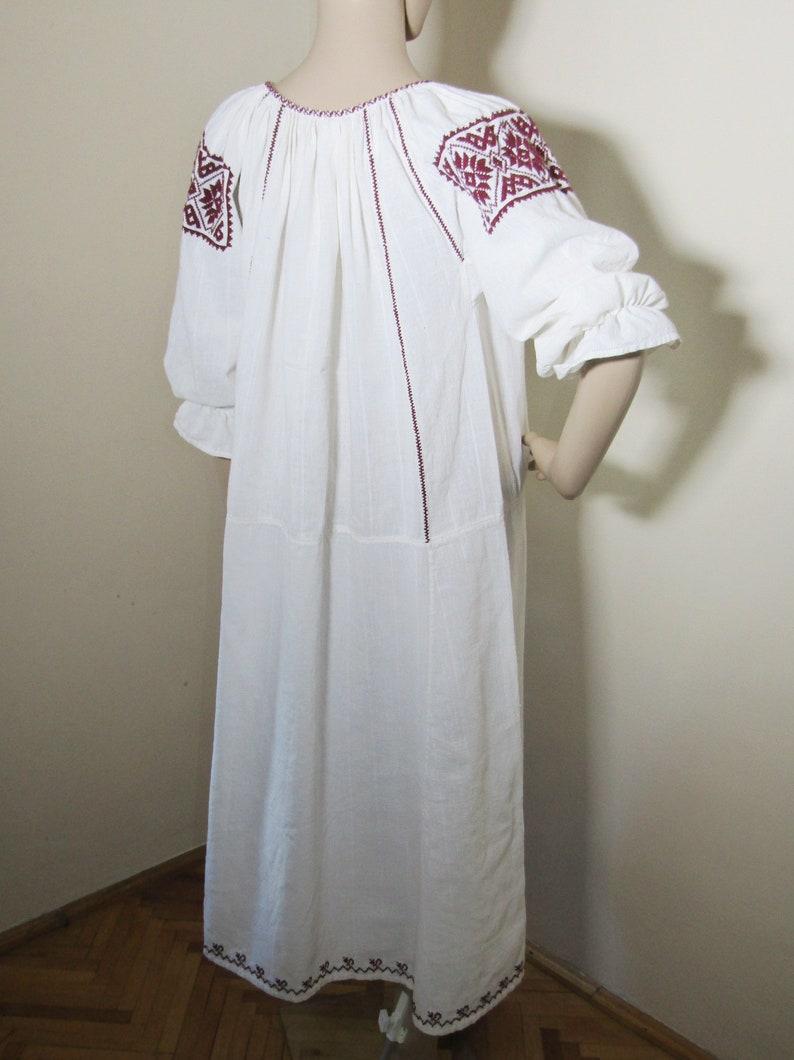 Antique Romanian peasant dress ethnic Romanian costumes blouse antique handmade traditional dress Medieval  costume blouse  size M
