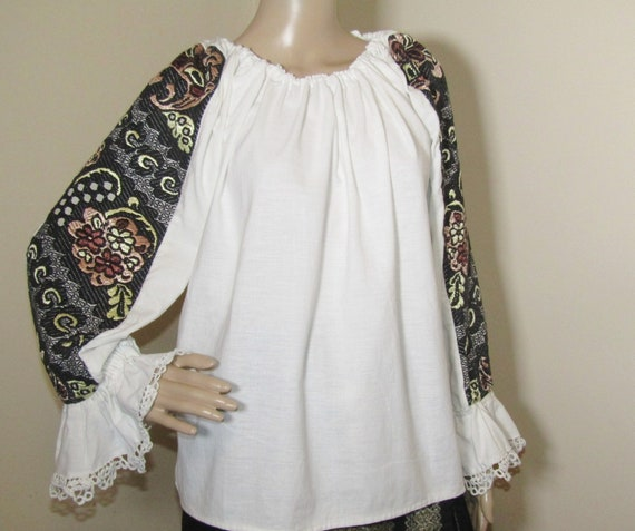 Romanian handmade ethnic blouse  from Transylvania