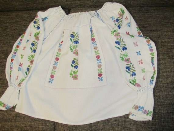 Romanian blouse  hand beaded blouse /antique weddi