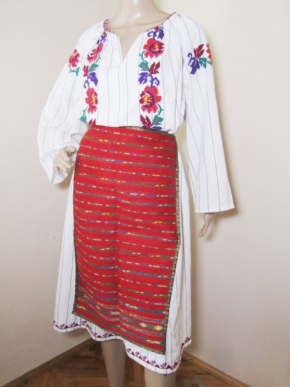 Romanian peasant costume, Romanian ethnic outfit ,