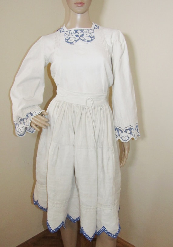 Antique Romanian peasant blouse and skirt from Tr… - image 8