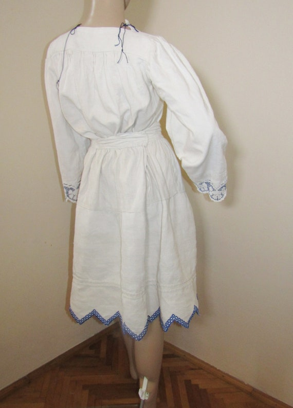 Antique Romanian peasant blouse and skirt from Tr… - image 6
