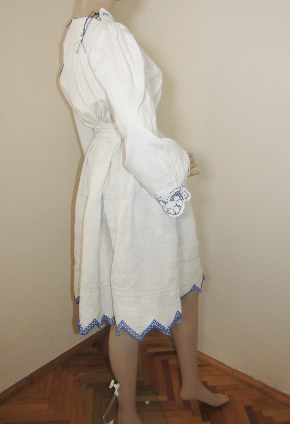 Antique Romanian peasant blouse and skirt from Tr… - image 5